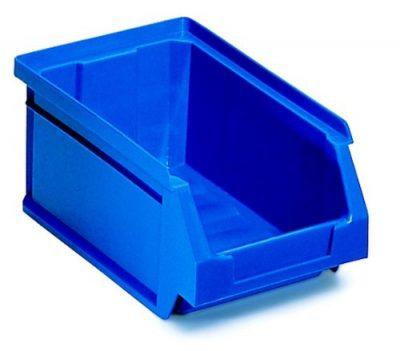 Gavetas apilables de color azul
