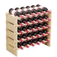 Botelleros apilables de madera