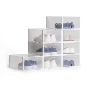 Cajas para zapatos apilables en escalera