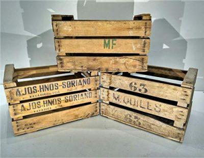 Cajas de fruta decorativas de madera